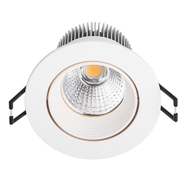 Spot led encastrable 8 5w 50w rond blanc chaud for Spot plafond exterieur