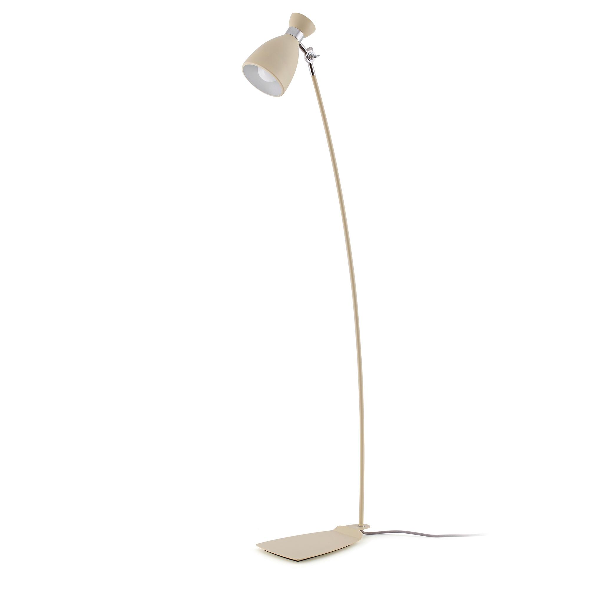 Lampadaire design int rieur retro faro beige for Lampadaire interieur design