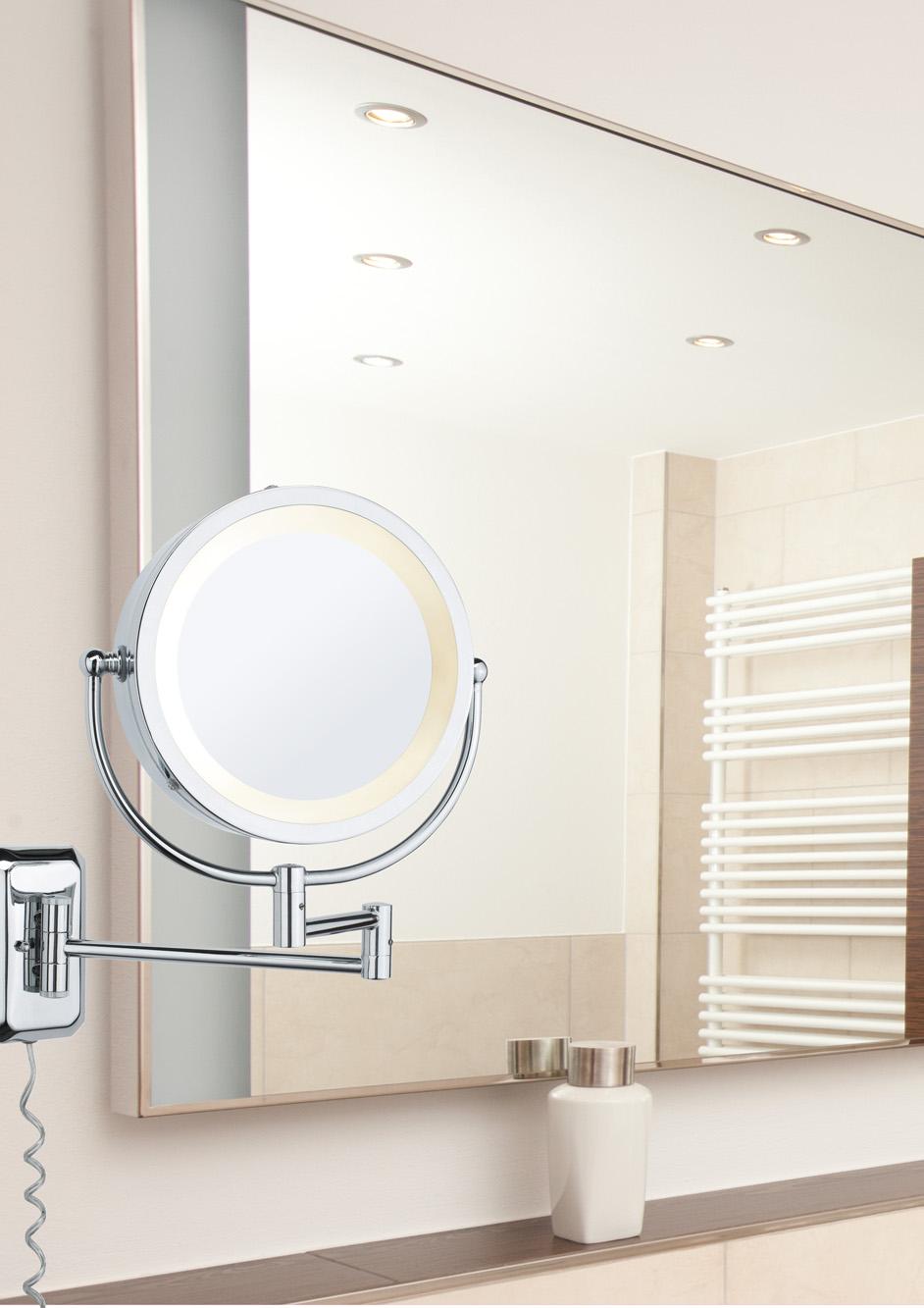 applique salle de bain paulmann bela max 40w 230v e14 chrome miroir. Black Bedroom Furniture Sets. Home Design Ideas