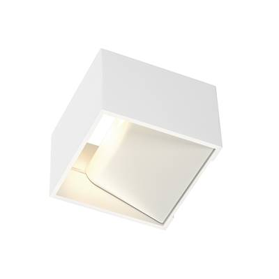 LOGS IN applique, carrée, blanche, 5W LED, 3000K SLV