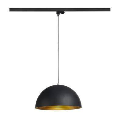 FORCHINI M suspension, 40cm, rond, noir/or, E27, adapt. 3 all. inclus SLV
