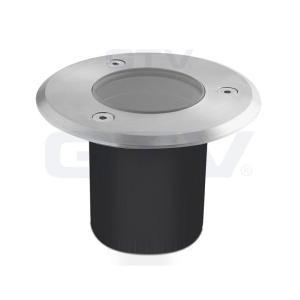 Spot exterieur ip67 mini 230v pour led gu10 acier bross rond for Spot encastrable exterieur gu10