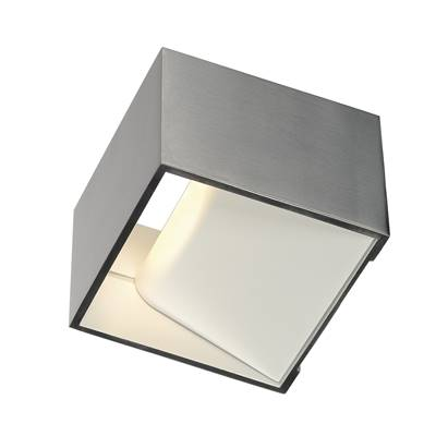 LOGS IN applique, carrée, alu brossé, 5W LED, 3000K SLV