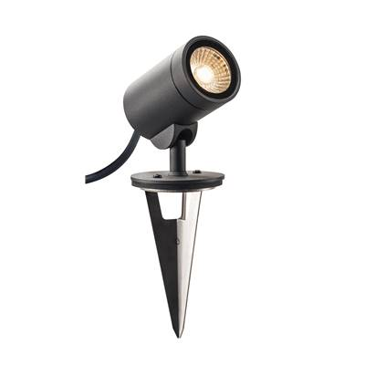 HELIA LED, projecteur extérieur, anthracite, LED 8W 3000K, 35°, IP55 SLV
