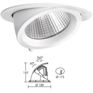 Encastré Downlight Rond LED ARIC RANDY 4. 49W 3000 K 3900 lm. 50194
