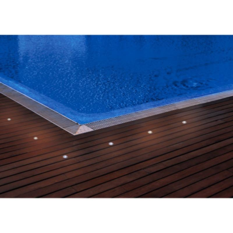 spot terrasse piscine 12v led ip67 kit de 6 spot led 6000k. Black Bedroom Furniture Sets. Home Design Ideas