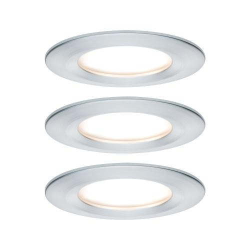 Lot de 3 Spots LED encastrables Nova LED Coin IP44 6.5W 230V PAULMANN 93462