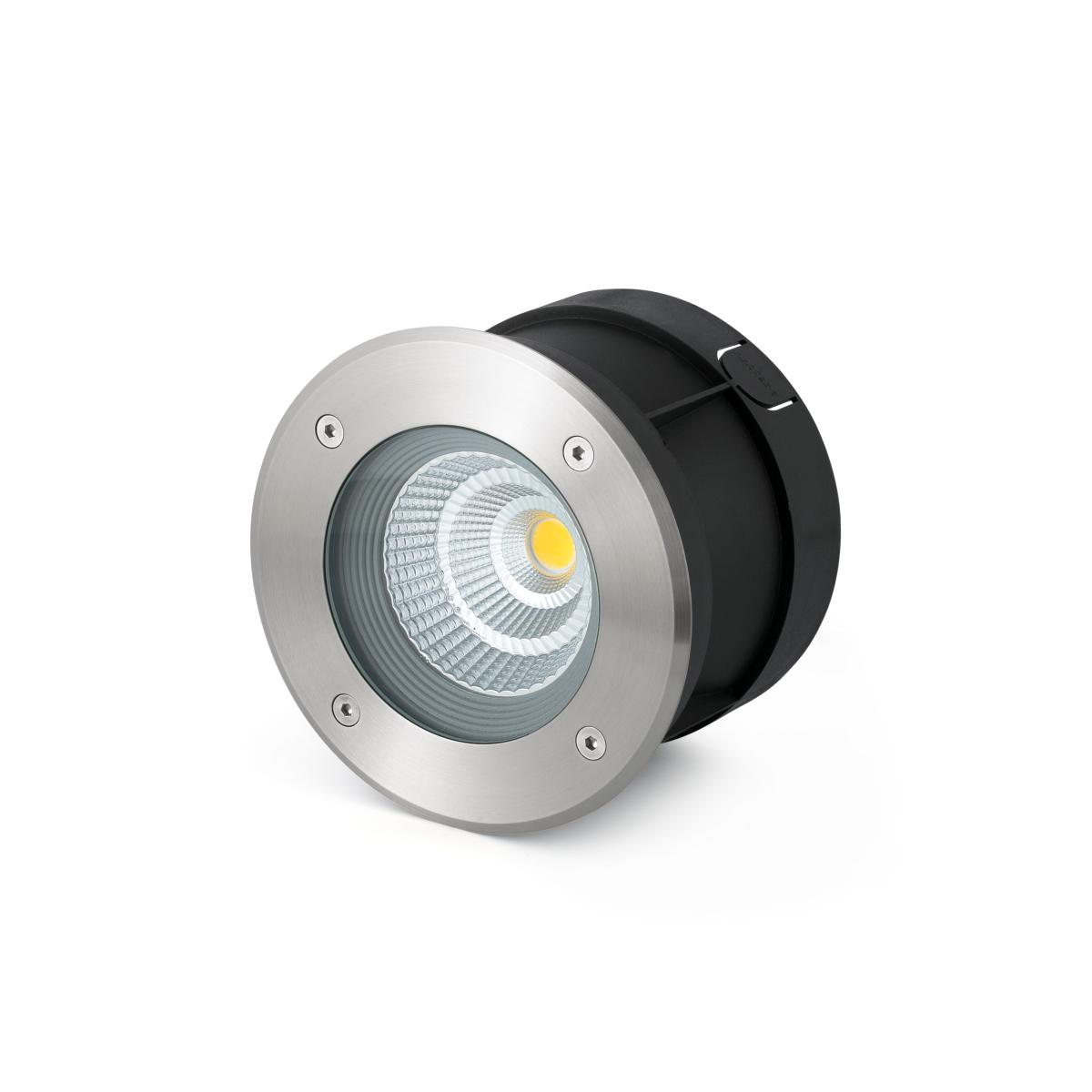 Spot encastrable exterieur led ip67 12w 60 inox 316 faro for Spot exterieur led encastrable