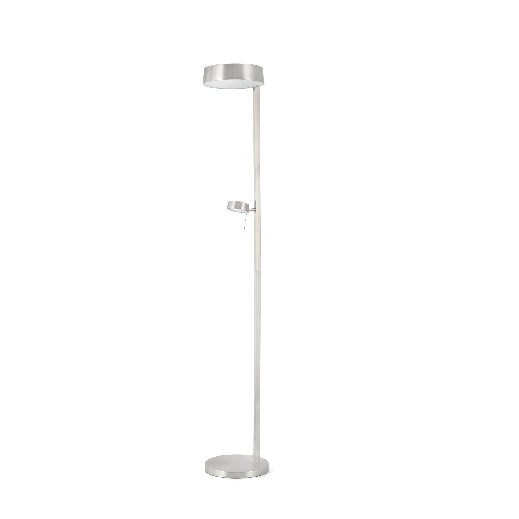 Lampadaire design int rieur nexo faro nickel satin for Lampadaire interieur design