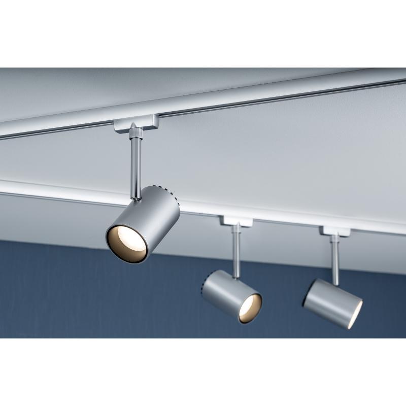 urail spot sur rail led shine chrome mat 5w paulmann 95273. Black Bedroom Furniture Sets. Home Design Ideas