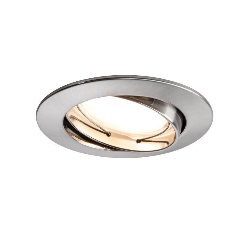 spot led encastrable orientable 6 8w 230v acier bross. Black Bedroom Furniture Sets. Home Design Ideas