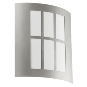 LED-Applique/1 Acier inoxydable/Blanc 'CITY LED'