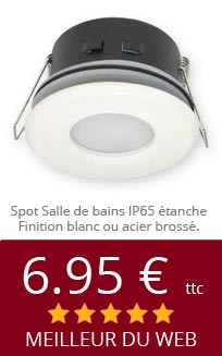 Spot led encastrable ampoule led et luminaires chez anrold - Spot salle de bain ip65 ...
