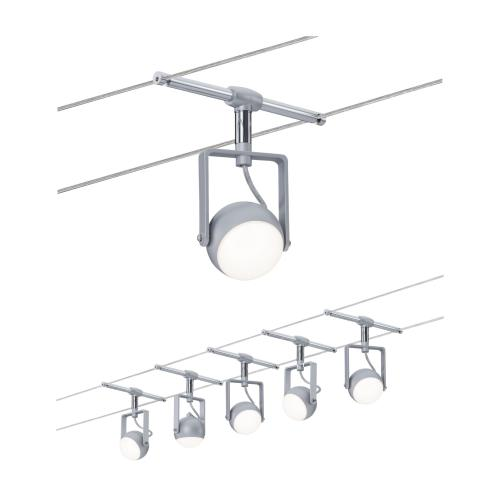 Spot Sur Câble Tendu Kit Orbled 5x4w Série Wire Paulmann 3983