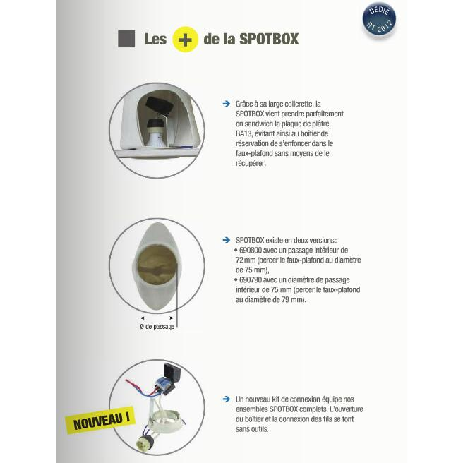 spotbox air spot led enc 75 mm bo te de r servation tanche 694800. Black Bedroom Furniture Sets. Home Design Ideas